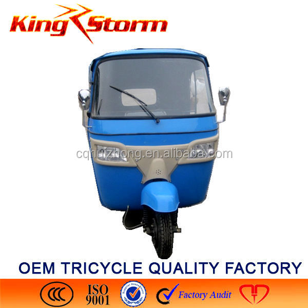 China Bajaj Auto Rickshaw 110CC/175CC/200CC Passenger Tuk Tricycle cng 3/Three Wheel Electric Motorcycle