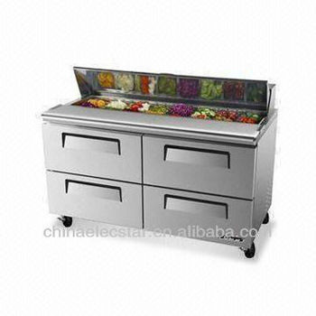 Cold Air Salad Case with 4 Drawers, UL and CE Certifications-1