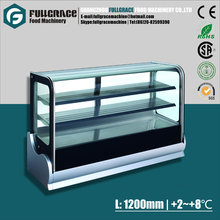 1.2m stainless steel 3 layers 260Liters bakery cake display cooler