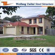 luxury designed prefab steel structure building panel villas