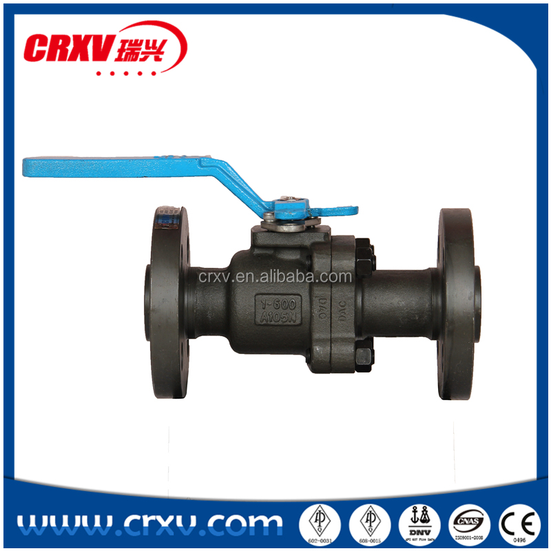 Forged Steel Ball Valve 2PC RF/RTJ 600LB PN100 PSI1480 LEVER FULL PORT SEAT RING C-PTFE