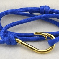 Men Bracelet Jewelery Survival Nautical Gold