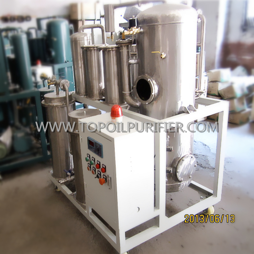 Effective filtration and discoloring waste cooking oil recovery unit