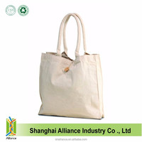 Carry Green Gift 10 Oz Cotton Canvas Tote Bags With Buttoned Closure