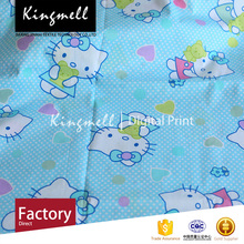 Custom digital printed 100% cotton fabric for bedding from wholesale suppliers