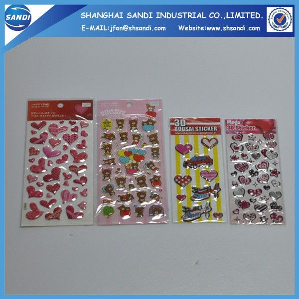 Promotional custom full color PVC foam cartoon sticker