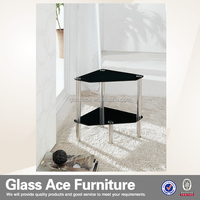 triangle corner glass coffee table