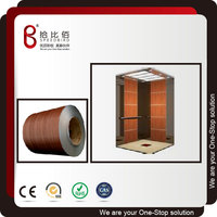 Metal Wood Grain Decorative Sheet for Wall