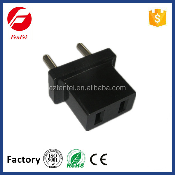 hot selling 2P round AC plug to 2P AC plug made in china