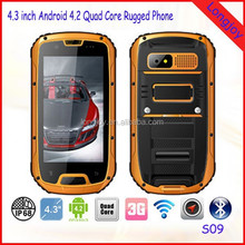 S09 IP68 Android Cell Phone Waterproof Dustproof Shockproof MTK6589 Quad Core 1GB RAM 4GB ROM