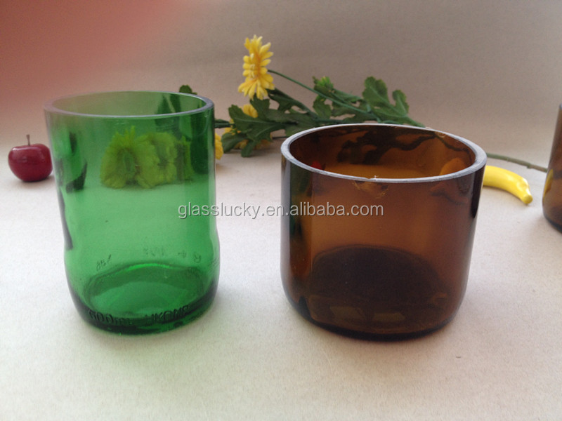 Zibo glasslucky hotsale painted cutted glass vase wholesale glass vases for decoration