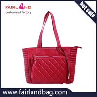 high quality colorful set fashion lady leather handbag customized factory