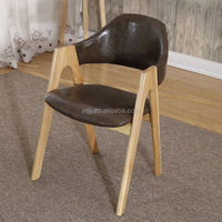 Wood design italian bistro wooden chair leather bistro chair