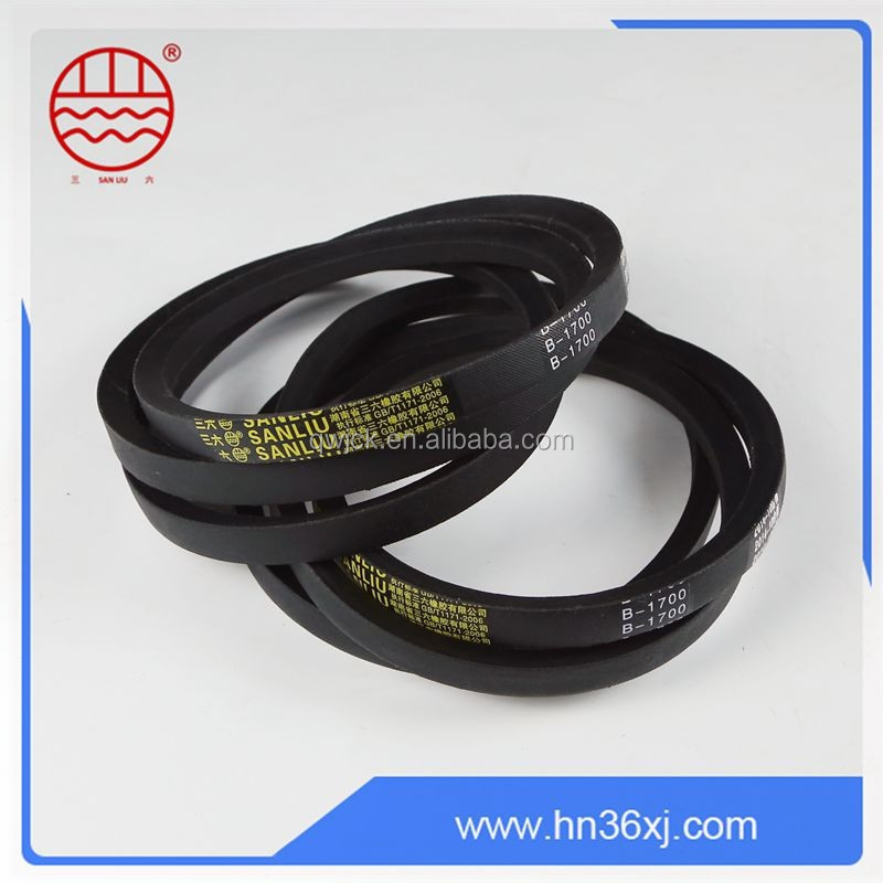 Special core heat resistant rubber lawn mower v- belts