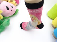 custom print socks 360 double print polyester socks fashion lady socks