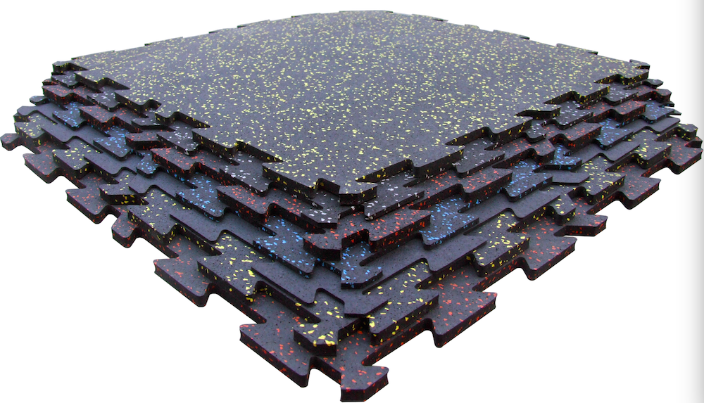 gym rubber interlocking/interlocking gym flooring/rubber puzzle tiles
