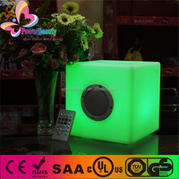fashionable waterproof led cube portable rechargeable best wireless bluetooth audio speaker for home theatre