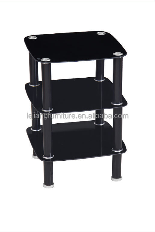 simple design rectangular hot sale glass tv stand