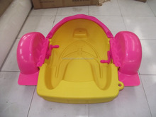 2017 Selling like colorful plastic small hand pedal boat kids hand paddle boats for sale