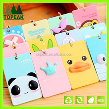 id card holder keychain mini card holder pvc card holder