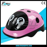 Fasy cute pink panda animal kids helmet