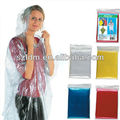 Adult transparent pvc raincoat with pocket