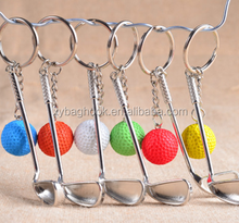 2017 newest cheap wholesale sport Metal golf key chain