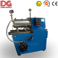 DEGOLD 15L pearl SS304 grinding cylinder agitator hard steel disk inverter Ex proof horizontal sand mill for pigment