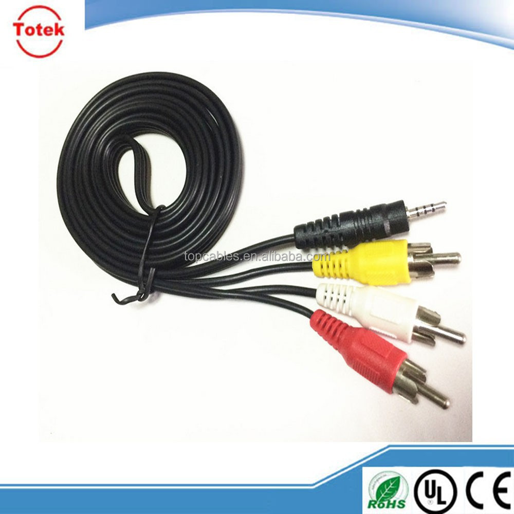 Wholesale Cheap l shape rca audio video cable
