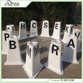 FenTECH brand three sides Dressage Arenas Letters with flower pot on the top