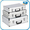 set of 3 pieces portable aluminum toolboxes