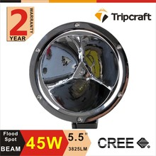 Car accessories Utility 45w 5.5 inch Waterproof flood beam Atv Led Work Light for boats , cars , trucks