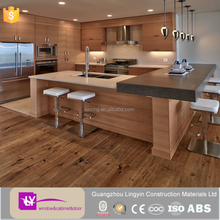 top sell wood color unit kitchen cabinets from Guangzhou Factory
