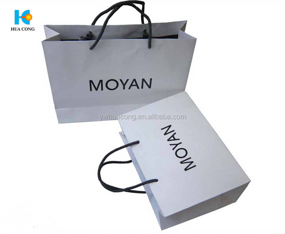 custom printed cheap shopping packaging kraft paper bag with handle