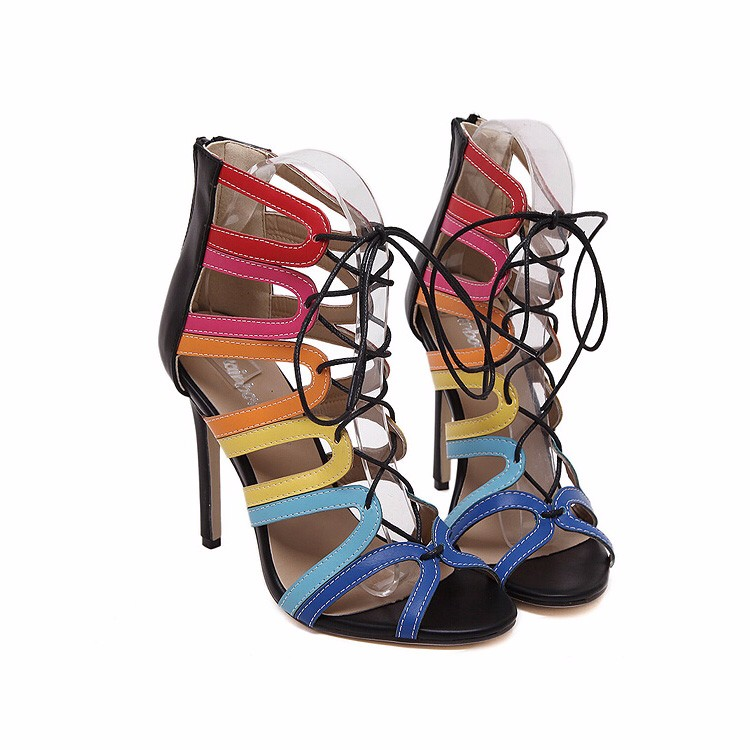 15c52563e54 Vintage Women Fringe High Heels Gladiator Sandals Sexy Summer Shoes Woman  Brand Rope Sandal Boots Sandalias