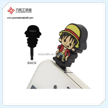 cartoon shape Jack Plug phone dust plug phone accessories