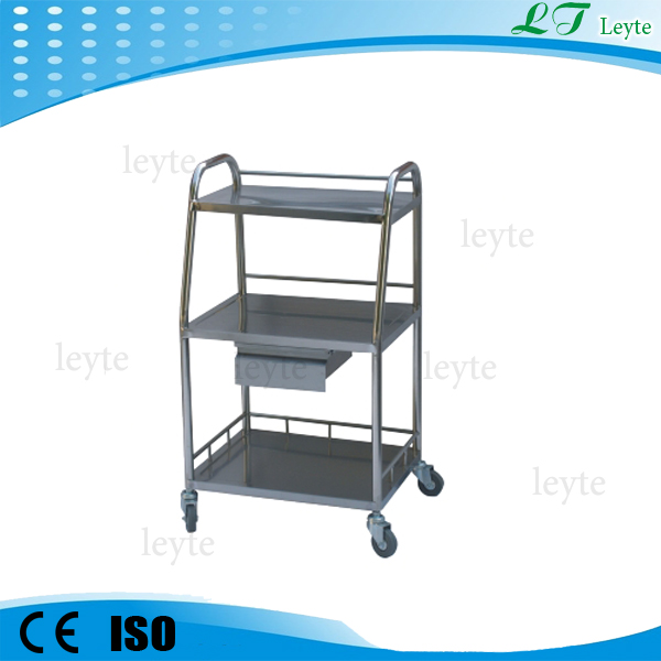 KB127 stainless steel hospital Treatment cart with Drawer