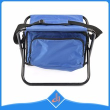 Manufacture blue waterproof folding cooler bag chair