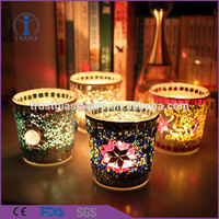 High quality fashion romantic pineapple glass candle jar wholesale