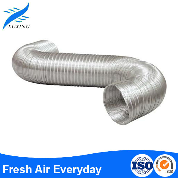 hvac system semi-rigid aluminum flexible air duct air conditioner hose ducting sgs duct