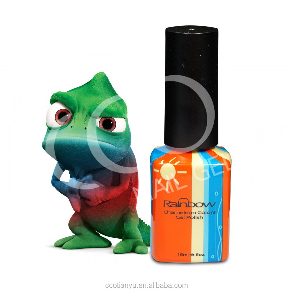 CCO soak off Chameleon color changing UV gel nail