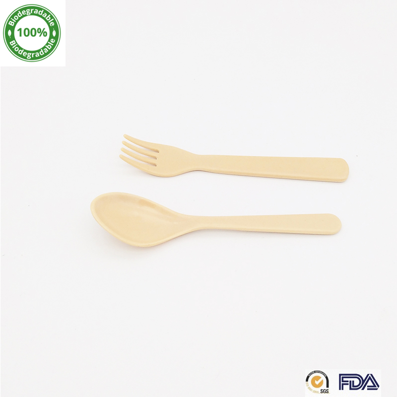 Natural Living Bamboo Fiber Spoon And Forks For Children With SGS & FDA