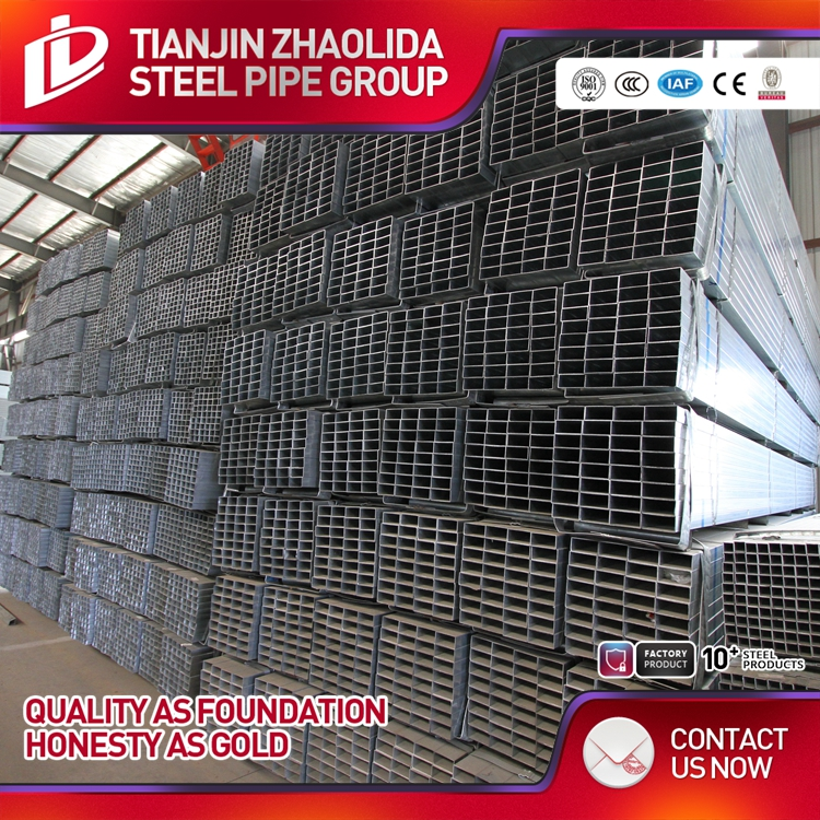 square thin wall galvanized steel 6 inch pipe price