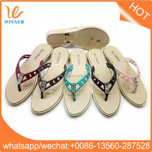 Pink Color Girls Straw Material Cool Flip Flops Shoes w874