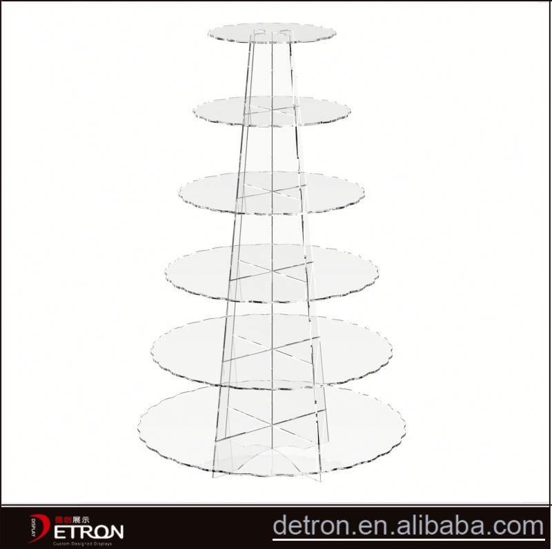Wholesale clear acrylic cupcake tower stand