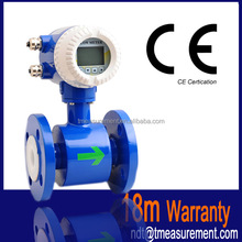 TEM82E acid electronic magnetic flow meter mag waste water flow sensor made in China