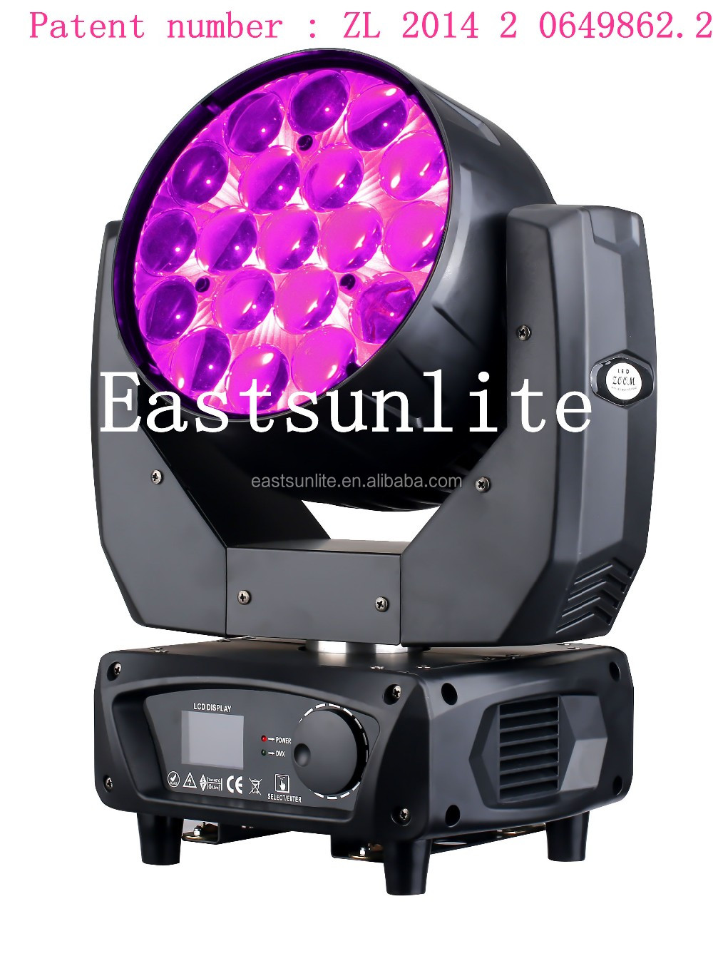 New 19pcs 15w MAC AURA led moving head with zoom stage lighting