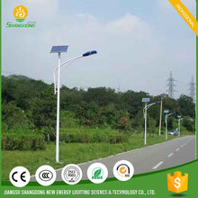 galvanized steel pole led solar power motion sensor security street light