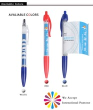 Advertising gifts custom design pull out banner push type pen cheap plastic banner pen