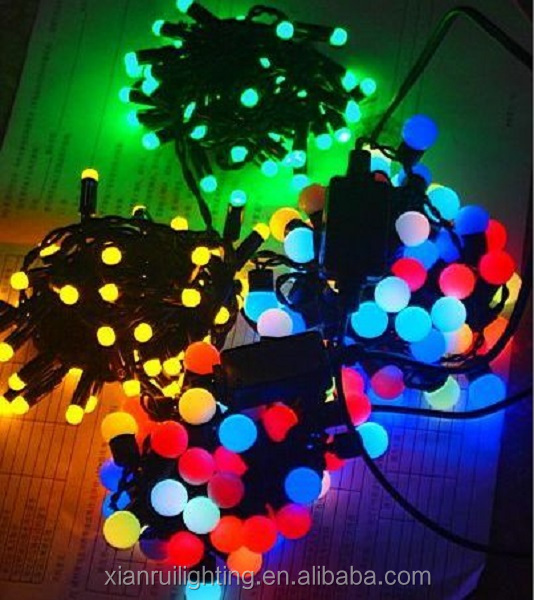 Festive holiday decoration led ball string light Electronic Led Tree String Light